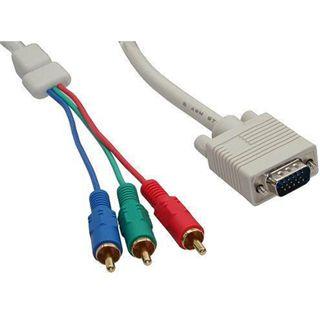 (€1,98*/1m) 5.00m InLine VGA Adapterkabel doppelt geschirmt VGA