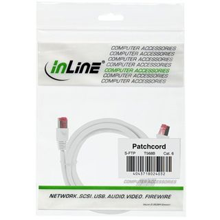 (€13,00*/1m) 0.30m InLine Cat. 6 Patchkabel S/FTP PiMF RJ45