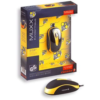 CHERRY JM-C0100 MUXX Corded Optical Children Mouse USB schwarz/gelb
