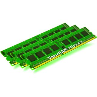 6GB Kingston ValueRAM DDR3-1333 ECC DIMM CL9 Tri Kit