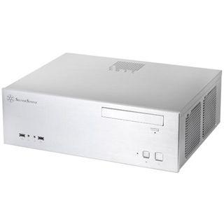 Silverstone Grandia GD04 Desktop ohne Netzteil silber