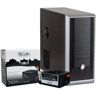 ATX Midi Tronje T-120 schwarz/silber inkl. 760W (TRGN26560)