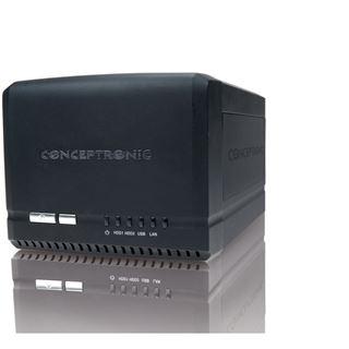 Conceptronic NAS 2 x 3,5 SATA-HDDs (GBit-LAN) V2