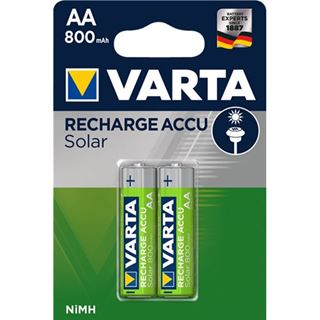 Varta Solar HR6 Nickel-Metall-Hydrid AA Mignon Akku 800 mAh 2er Pack