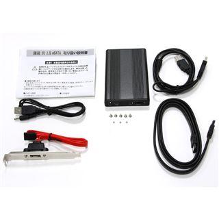 "2.5""(6,35cm) Scythe Kamazo 2 Enclosure eSATA USB 2.0 Grau"