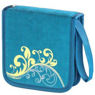 hama cd dvd blu ray tasche vancouver 36 blau tasche f r aufbewahrung. Black Bedroom Furniture Sets. Home Design Ideas
