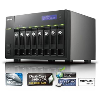 "QNAP Turbostation TS-859 Pro NAS System für 8x2,5"" oder"