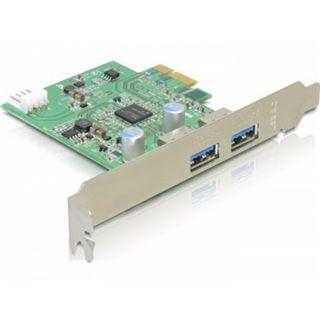 Delock 89242 2 Port PCIe 2.0 x1 retail