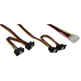 (€13,80*/1m) 0.50m InLine SATA Adapterkabel Molex-Stecker auf