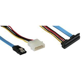 (€15,80*/1m) 0.50m InLine SATA Anschlusskabel SATA Stecker +