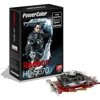 1024MB Powercolor Radeon HD 5670 GDDR5 PCIe