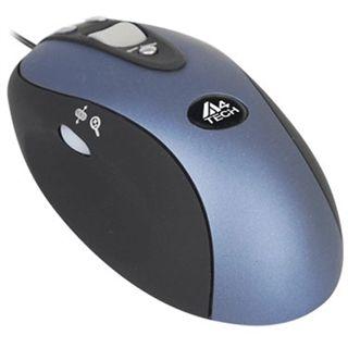 A4Tech Glaser X6-90D Optische Maus Schwarz/Hellblau USB