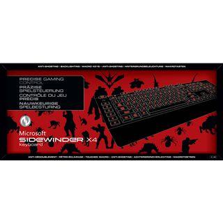Microsoft SideWinder X4 Gaming Keyboard USB Deutsch schwarz