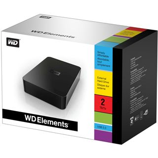 """2000GB WD Elements WDBAAU0020HBK-EESN 3.5"""" (8.9cm) USB 2.0"""