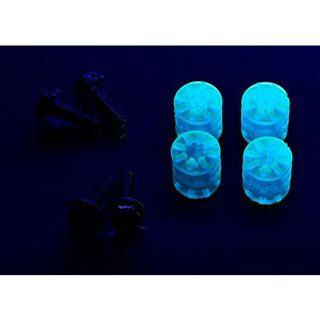 LAMPTRON 4x Schraube + Gummi Unterlegscheibe UV blau Montage Kit