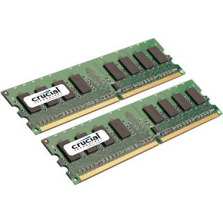 2GB Crucial Value DDR2-667 DIMM CL5 Dual Kit