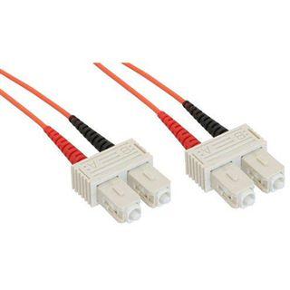 50.00m InLine LWL Duplex Patchkabel 62,5/125 µm OM2 ST Stecker