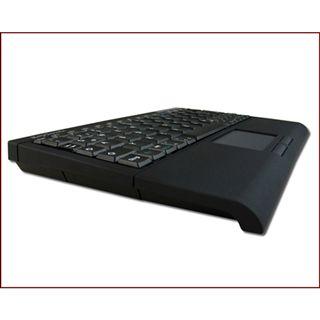 KeySonic ACK-340BT Super Mini Touchpad Tastatur Schwarz Deutsch USB