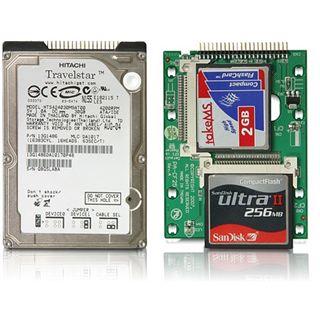 """Delock 2,5"""" IDE 44pin auf 2x CF Adapter für Speicherkarten"""