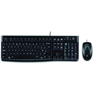 Logitech Desktop MK120 Deutsch USB schwarz