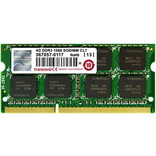 4GB Transcend TS4GAP1066S DDR3-1066 SO-DIMM CL7 Single