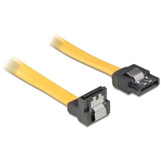 (€39,00*/1m) 0.10m Delock SATA 3Gb/s Anschlusskabel gewinkelt