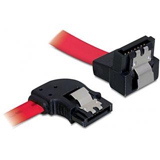 Delock Kabel SATA 50cm links/unten Metall Rot