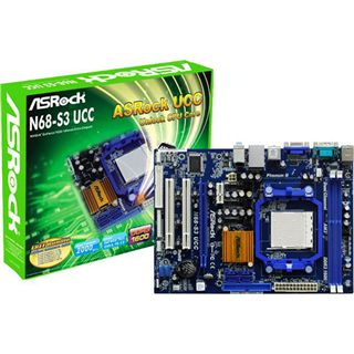 ASRock N68-S3 UCC NVIDIA nForce 630a So.AM3 Dual Channel DDR3 mATX
