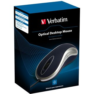 Verbatim Mouse Desktop Optische Maus Blau USB