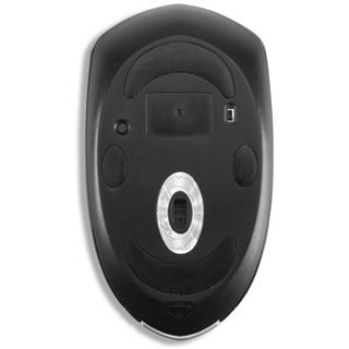 Verbatim Mouse Desktop Laser Maus Schwarz/Silber USB
