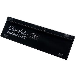 Revoltec K106 Chocolate Tastatur Schwarz Deutsch Schwarz