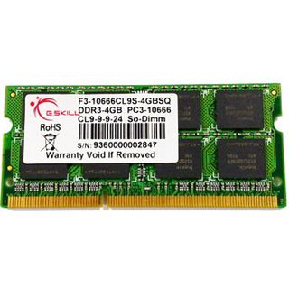 2GB G.Skill SQ Series DDR3-1333 SO-DIMM CL9 Single