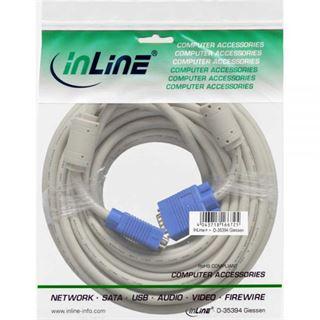(€1,79*/1m) 10.00m InLine S-VGA Anschlusskabel doppelt geschirmt