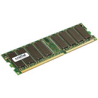 512MB Crucial DDR-400 DIMM CL3 Single