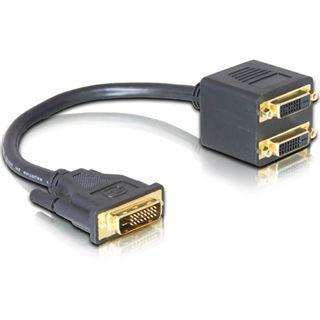 Good Connections Adapter DVI 24+1 Stecker auf 2xDVI 24+1 Buchse
