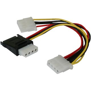 0.20m Good Connections SATA Stromadapterkabel intern 15pol Stecker +