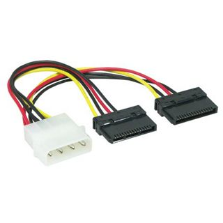 0.20m Good Connections SATA Stromadapterkabel intern 4pol Stecker auf