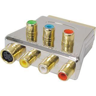 Good Connections Adapter Scart Stecker auf YUV 3xCinch Buchse + RGB