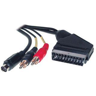 1.50m Good Connections SCART Anschlusskabel 20pol Stecker auf S-Video
