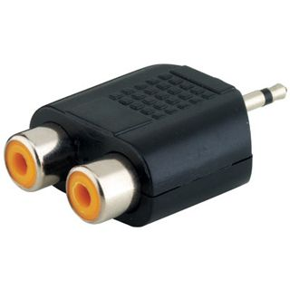 Adapter Audioadapter Klinke Mono / Stereo 3,5mm Stecker auf 2x Cinch