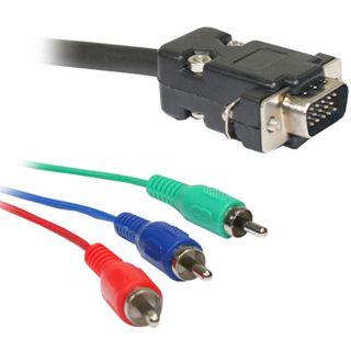 5.00m Good Connections YUV Anschlusskabel 3xCinch Stecker auf VGA