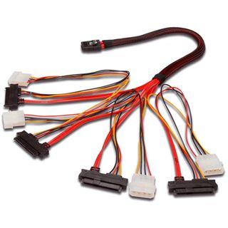0.50m Good Connections SAS 3Gb/s Anschlusskabel SFF-8087 Stecker auf
