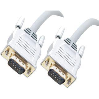20m S-VGA High Quality Anschlusskabel grau/silber 15pol Stecker auf