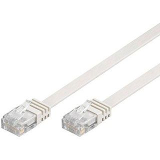 0.50m Good Connections Cat. 6 Patchkabel flach U/UTP RJ45 Stecker auf