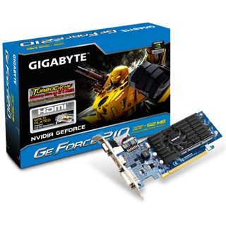 128MB Gigabyte GeForce 210 TurboCache Aktiv PCIe 2.0 x16 (Retail)