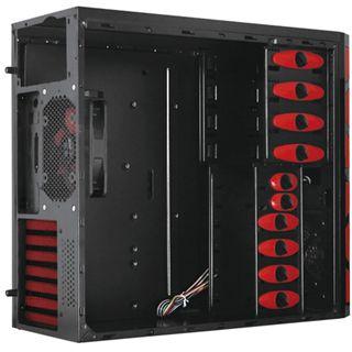 Raidmax Cyclone Midi Tower ohne Netzteil schwarz/rot