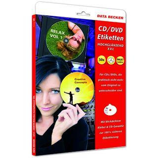 Data Becker CD-ETIKETTEN GLOSSY XXL 3ON1