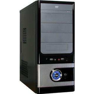 Inter-Tech JY-230 Badger Midi Tower 500 Watt schwarz