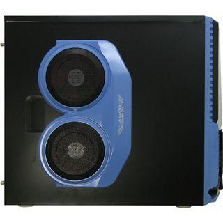 Inter-Tech JY-X5 Ventilation Midi Tower ohne Netzteil schwarz/blau