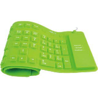 LogiLink Flexible Waterproof Keyboard PS/2 & USB Deutsch gruen